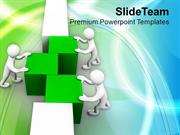 3d Man Arranging Cubes Teamwork PowerPoint Templates PPT Themes And Gr