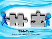 3d Man Assembling Business Puzzle PowerPoint Templates PPT Themes And