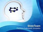 3d Man Face Outline With Molecular Design PowerPoint Templates PPT The