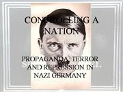 Propaganda and Terror in Nazi Germany