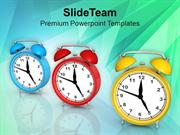 Alarm Clocks For Time Management PowerPoint Templates PPT Themes And G