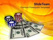 Casino Chips And Money Game Theme PowerPoint Templates PPT Themes And