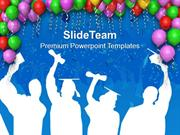 Decoration With Balloons Party Theme PowerPoint Templates PPT Themes A