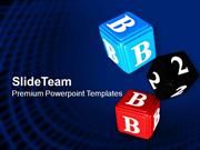 Dices With Symbols Game Theme PowerPoint Templates PPT Themes And Grap