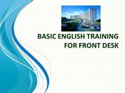 Basic English Training for Front Desk