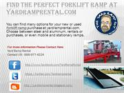 Find the Perfect Forklift Ramp