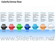 7 Staged Colorful Arrow Flow Diagram
