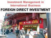 3.  Foreign Direct Investment [FDI]         S.S. Ranjan