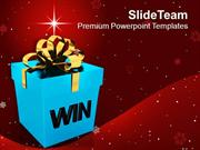 Win A Prize For Efforts In Business PowerPoint Templates PPT Themes An
