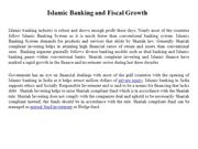 Islamic Banking and Fiscal Growth