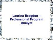 Laurina Bragdon – Professional Program Analyst