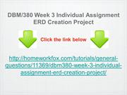 DBM:380 Week 3 Individual Assignment ERD Creation Project