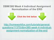 DBM:380 Week 4 Individual Assignment Normalization of the ERD