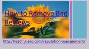 how to remove bad reviews
