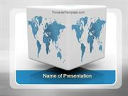 Cube World Map PowerPoint Template
