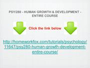 PSY:280 - HUMAN GROWTH & DEVELOPMENT - ENTIRE COURSE