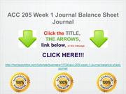 ACC 205 Week 1 Journal Balance Sheet Journal