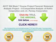 ACCT 504 Week 7 Course Project Financial Statement Analysis Project --
