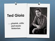 Ted Gioia talks about the Blues