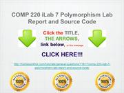COMP 220 iLab 7 Polymorphism Lab Report and Source Code