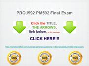 PROJ592 PM592 Final Exam