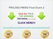 PROJ592 PM592 Final Exam 2