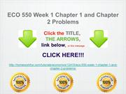 ECO 550 Week 1 Chapter 1 and Chapter 2 Problems