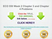 ECO 550 Week 2 Chapter 3 and Chapter 4 Problems