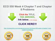ECO 550 Week 4 Chapter 7 and Chapter 8 Problems