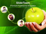 An Apple A Day Keeps Doctor Away PowerPoint Templates PPT Themes And G