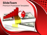 Business Graph On Dollar Money PowerPoint Templates PPT Themes And Gra