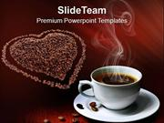 Coffee Beans With Love Entertainment PowerPoint Templates PPT Themes A