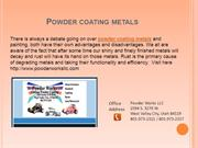 Powder Coating Metals