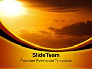 Sunset Scene Nature PowerPoint Templates PPT Themes And Graphics 0313
