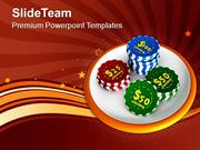 Casino Chips Gambling Save Money PowerPoint Templates PPT Themes And G