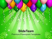 Celebration Time With Colorful Balloons PowerPoint Templates PPT Theme