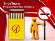 Cigarette Smoking Injurious To Health PowerPoint Templates PPT Themes