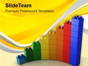 Growth Of Business With Lego Blocks PowerPoint Templates PPT Themes An