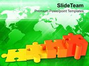 Increasing Problems Puzzle Bar Graph PowerPoint Templates PPT Themes A