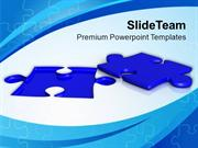 Solution Of Problem Blue Puzzle PowerPoint Templates PPT Themes And Gr