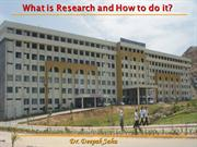 What is Research and How to do it