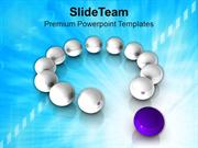 Team Leader Standing Be Different PowerPoint Templates PPT Themes And