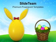 Cute Bunny Egg For Easter PowerPoint Templates PPT Themes And Graphics