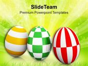 Different Pattern Easter Eggs With Theme PowerPoint Templates PPT Them