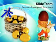 Lets Celebrate Easter With Eggs PowerPoint Templates PPT Themes And Gr