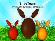 Surprise Bunny Easter Eggs For Family PowerPoint Templates PPT Themes