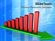 Arrow Towards Growth By Bar Graph PowerPoint Templates PPT Themes And