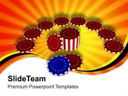 Chips For Poker Entertainment PowerPoint Templates PPT Themes And Grap
