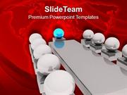 Conference Meeting With Leader PowerPoint Templates PPT Themes And Gra