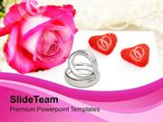 Engagement Time With Wedding Rings PowerPoint Templates PPT Themes And